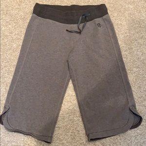 Lululemon Comfortable Gray Knee Length Shorts